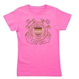 Coast guard Girl's Dark T-Shirt