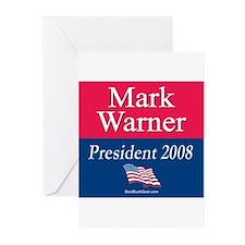 """Mark Warner President"" Greeting Cards (6)"