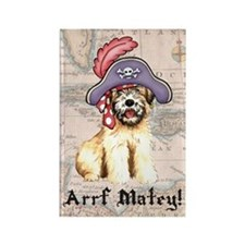 Wheaten Pirate Rectangle Magnet