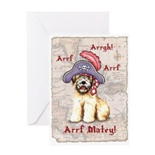 Wheaten Pirate Greeting Card