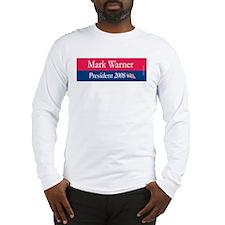 """""""Mark Warner President"""" Long Sleeve T-Shirt"""