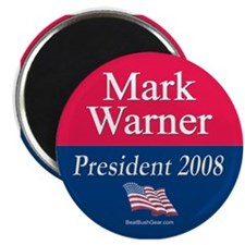 """Mark Warner President"" Magnet"