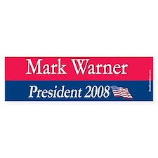 """Mark Warner President"" Bumper Bumper Sticker"