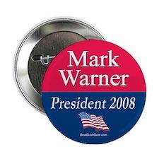 """Mark Warner President"" Button"