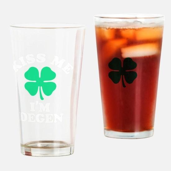 Funny Degen Drinking Glass