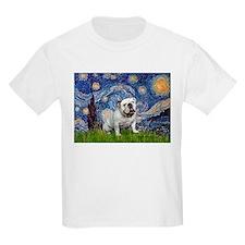 Starry Night English Bulldog T-Shirt