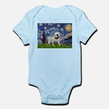 Starry Night English Bulldog Infant Bodysuit