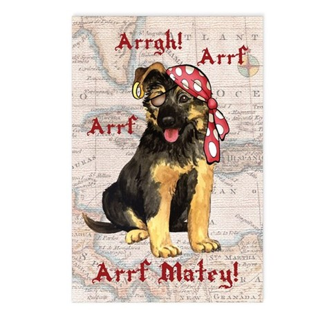 GSD Pirate Postcards (Package of 8)