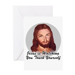 Touch Yourself Greeting Card