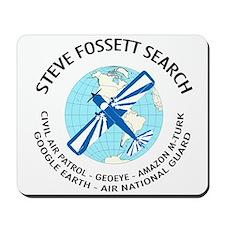 """Steve Fossett Search"" Mousepad"