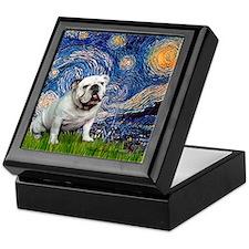 Starry Night English Bulldog Keepsake Box