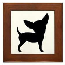 Funny Cute Chihuahua Framed Tile