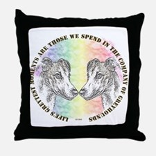 COMPANY OF GREYHOUNDS THROW PILLOW
