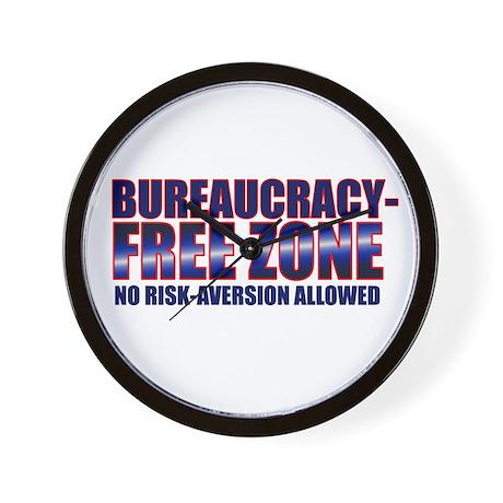 Bureaucracy-Free Zone Wall Clock