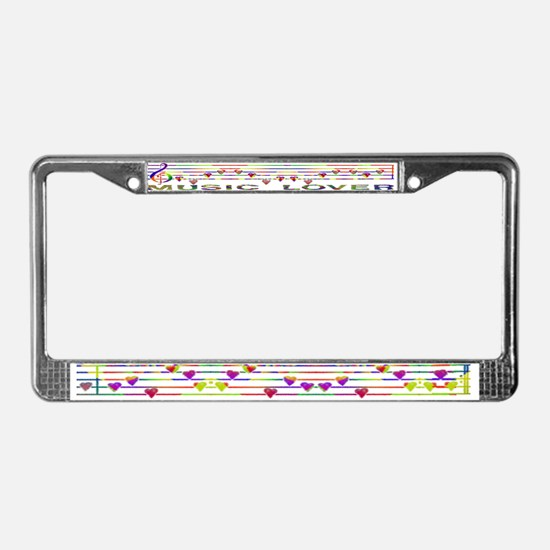 GLBT / LGBT - Music Lover - License Plate Frame