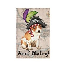 Chihuahua Pirate Rectangle Magnet