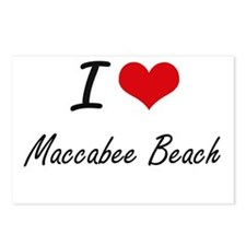 I love Maccabee Beach Cal Postcards (Package of 8)