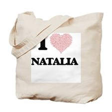 I love Natalia (heart made from words) de Tote Bag