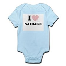 I love Nathalie (heart made from words) Body Suit