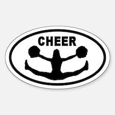 Cheerleader CHEER Oval Decal