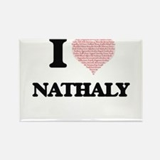I love Nathaly (heart made from words) des Magnets