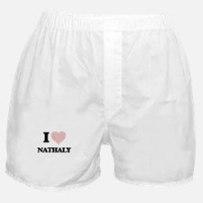 I love Nathaly (heart made from words Boxer Shorts