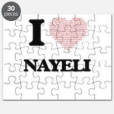 I love Nayeli (heart made from words) desig Puzzle