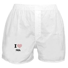 I love Nia (heart made from words) de Boxer Shorts