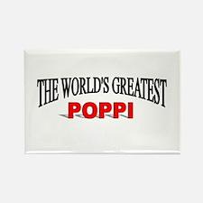 """""""The World's Greatest Poppi"""" Rectangle Magnet"""