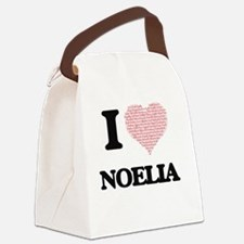 I love Noelia (heart made from wo Canvas Lunch Bag