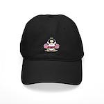 Burgundy Cheerleader Penguin Black Cap