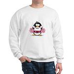 Burgundy Cheerleader Penguin Sweatshirt