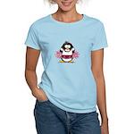 Burgundy Cheerleader Penguin Women's Light T-Shirt