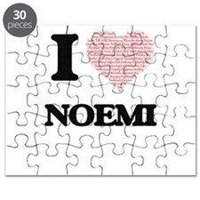 I love Noemi (heart made from words) design Puzzle