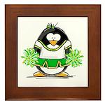 Cheerleader Penguin Framed Tile