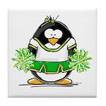 Cheerleader Penguin Tile Coaster