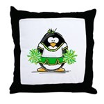 Cheerleader Penguin Throw Pillow