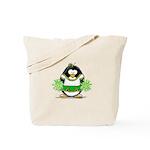 Cheerleader Penguin Tote Bag