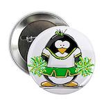 Cheerleader Penguin Button