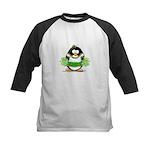 Cheerleader Penguin Kids Baseball Jersey