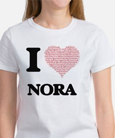 I love Nora (heart made from words) design T-Shirt