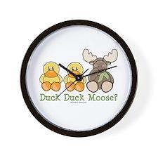 Funny Duck Duck Moose Wall Clock