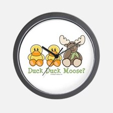 Funny Duck Duck Moose Wall Clock