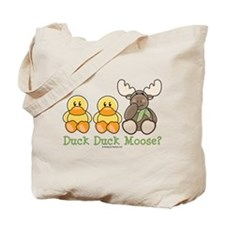 Funny Duck Duck Moose Tote Bag
