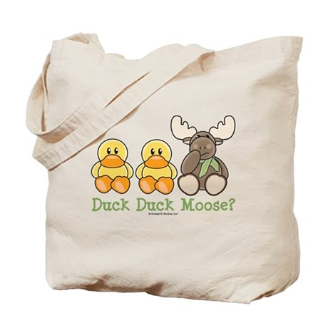 Funny Duck Duck Moose Tote Bag