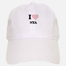 I love Nya (heart made from words) design Baseball Baseball Cap
