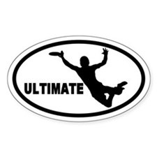 Ultimate Frisbee Oval Stickers