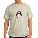 Red Hockey Penguin Light T-Shirt