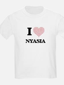 I love Nyasia (heart made from words) desi T-Shirt