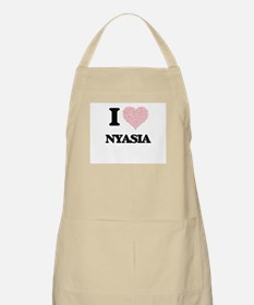 I love Nyasia (heart made from words) design Apron